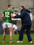 25 October 2020; Meath manager Andy McEntee speaks with Ronan Ryan of Meath during the Allianz Football League Division 1 Round 7 match between Monaghan and Meath at St Tiernach's Park in Clones, Monaghan. Photo by Harry Murphy/Sportsfile
