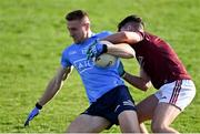 25 October 2020; Paddy Small of Dublin is tackled by James Foley of Galway during the Allianz Football League Division 1 Round 7 match between Galway and Dublin at Pearse Stadium in Galway. Photo by Ramsey Cardy/Sportsfile