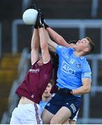 25 October 2020; Con O'Callaghan of Dublin in action against Johnny Heaney, left, and Matthias Barrett of Galway during the Allianz Football League Division 1 Round 7 match between Galway and Dublin at Pearse Stadium in Galway. Photo by Ramsey Cardy/Sportsfile