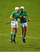 25 October 2020; Aaron Gillane of Limerick, right, with team-mate Pat Ryan of Limerick following the Munster GAA Hurling Senior Championship Quarter-Final match between Limerick and Clare at Semple Stadium in Thurles, Tipperary. This game also doubles up as the Allianz Hurling League Division 1 Final as the GAA season was shortened due to the coronavirus pandemic and both teams had qualified for the final. Photo by Eóin Noonan/Sportsfile