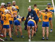 25 October 2020; Clare manager Brian Lohan speaking to his players at a water break during the Munster GAA Hurling Senior Championship Quarter-Final match between Limerick and Clare at Semple Stadium in Thurles, Tipperary. This game also doubles up as the Allianz Hurling League Division 1 Final as the GAA season was shortened due to the coronavirus pandemic and both teams had qualified for the final. Photo by Eóin Noonan/Sportsfile