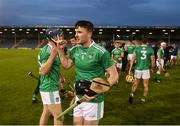 25 October 2020; Declan Hannon of Limerick celebrates after the Munster GAA Hurling Senior Championship Quarter-Final match between Limerick and Clare at Semple Stadium in Thurles, Tipperary. This game also doubles up as the Allianz Hurling League Division 1 Final as the GAA season was shortened due to the coronavirus pandemic and both teams had qualified for the final. Photo by Daire Brennan/Sportsfile