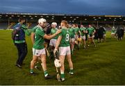 25 October 2020; Aaron Gillane, left, and Cian Lynch of Limerick celebrate after the Munster GAA Hurling Senior Championship Quarter-Final match between Limerick and Clare at Semple Stadium in Thurles, Tipperary. This game also doubles up as the Allianz Hurling League Division 1 Final as the GAA season was shortened due to the coronavirus pandemic and both teams had qualified for the final. Photo by Daire Brennan/Sportsfile