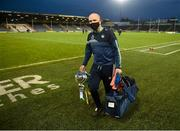 25 October 2020; Limerick team liaison officer Éibhear O'Dea with the cup after the Munster GAA Hurling Senior Championship Quarter-Final match between Limerick and Clare at Semple Stadium in Thurles, Tipperary. This game also doubles up as the Allianz Hurling League Division 1 Final as the GAA season was shortened due to the coronavirus pandemic and both teams had qualified for the final. Photo by Daire Brennan/Sportsfile