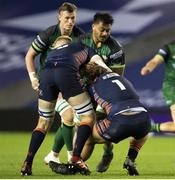 25 October 2020; Abraham Papali'i of Connacht is tackled by Hamish Watson of Edinburgh during the Guinness PRO14 match between Edinburgh and Connacht at BT Murrayfield in Edinburgh, Scotland. Photo by Paul Devlin/Sportsfile