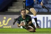 25 October 2020; Caolin Blade of Connacht scores a try during the Guinness PRO14 match between Edinburgh and Connacht at BT Murrayfield in Edinburgh, Scotland. Photo by Paul Devlin/Sportsfile