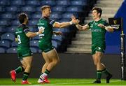 25 October 2020; Alex Wootton of Connacht celebrates his try during the Guinness PRO14 match between Edinburgh and Connacht at BT Murrayfield in Edinburgh, Scotland. Photo by Paul Devlin/Sportsfile