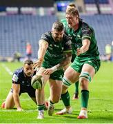 25 October 2020; Sam Arnold of Connacht celebrates his try during the Guinness PRO14 match between Edinburgh and Connacht at BT Murrayfield in Edinburgh, Scotland. Photo by Paul Devlin/Sportsfile