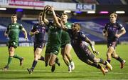 25 October 2020; Alex Wootton of Connacht scores a try during the Guinness PRO14 match between Edinburgh and Connacht at BT Murrayfield in Edinburgh, Scotland. Photo by Paul Devlin/Sportsfile