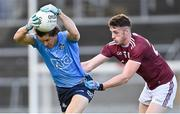 25 October 2020; David Byrne of Dublin is tackled by Matthias Barrett of Galway during the Allianz Football League Division 1 Round 7 match between Galway and Dublin at Pearse Stadium in Galway. Photo by Ramsey Cardy/Sportsfile