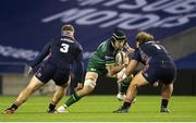 25 October 2020; Eoghan Masterson in action against Pierre Schoeman during the Guinness PRO14 match between Edinburgh and Connacht at BT Murrayfield in Edinburgh, Scotland. Photo by Paul Devlin/Sportsfile