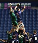 25 October 2020; Lewis Carmichael of Edinburgh in action against Eoghan Masterson of Connacht during the Guinness PRO14 match between Edinburgh and Connacht at BT Murrayfield in Edinburgh, Scotland. Photo by Paul Devlin/Sportsfile