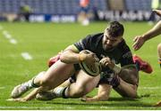 25 October 2020; Sam Arnold of Connacht scores a try during the Guinness PRO14 match between Edinburgh and Connacht at BT Murrayfield in Edinburgh, Scotland. Photo by Paul Devlin/Sportsfile