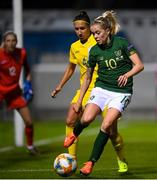 23 October 2020; Denise O'Sullivan of Republic of Ireland in action against Anastasia Filenko of Ukraine during the UEFA Women's EURO 2022 Qualifier match between Ukraine and Republic of Ireland at the Obolon Arena in Kyiv, Ukraine. Photo by Stephen McCarthy/Sportsfile
