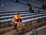25 October 2020; Ryan Taylor of Clare near the end of the Munster GAA Hurling Senior Championship Quarter-Final match between Limerick and Clare at Semple Stadium in Thurles, Tipperary. This game also doubles up as the Allianz Hurling League Division 1 Final as the GAA season was shortened due to the coronavirus pandemic and both teams had qualified for the final. Photo by Ray McManus/Sportsfile