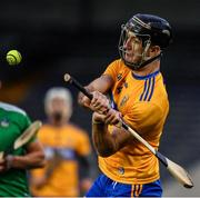 25 October 2020; Stephen O'Halloran of Clare during the Munster GAA Hurling Senior Championship Quarter-Final match between Limerick and Clare at Semple Stadium in Thurles, Tipperary. This game also doubles up as the Allianz Hurling League Division 1 Final as the GAA season was shortened due to the coronavirus pandemic and both teams had qualified for the final. Photo by Ray McManus/Sportsfile
