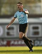 24 October 2020; Referee Robert Hennessy during the SSE Airtricity League Premier Division match between Sligo Rovers and Cork City at The Showgrounds in Sligo. Photo by Harry Murphy/Sportsfile