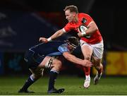 26 October 2020; Mike Haley of Munster is tackled by James Ratti of Cardiff Blues during the Guinness PRO14 match between Munster and Cardiff Blues at Thomond Park in Limerick. Photo by Harry Murphy/Sportsfile