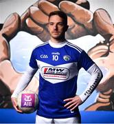 27 October 2020; Pictured is Arles-Kilcruise and Laois Footballer Ross Munnelly at AIB's launch of the GAA All-Ireland Senior Football Championship. Now in their sixth season sponsoring the football county championship and their 30th year sponsoring the club championships, AIB are proud to support some of #TheToughest games there are. In addition to the launch, AIB will soon be releasing their new TV Ad, a fast-paced and upbeat celebration of the 2020 GAA All-Ireland Senior Football Championship. For exclusive content and to see why AIB are backing Club and County, follow us on @AIB_GAA on Twitter, Instagram and Facebook. Photo by David Fitzgerald/Sportsfile