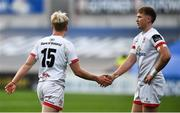 25 October 2020; Stewart Moore of Ulster, right, and Rob Lyttle during the Guinness PRO14 match between Ulster and Dragons at Kingspan Stadium in Belfast. Photo by David Fitzgerald/Sportsfile