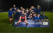 27 October 2020; Drogheda United players celebrate after winning the SSE Airtricity First Division following their match against Cabinteely at Stradbrook in Blackrock, Dublin. Photo by Stephen McCarthy/Sportsfile