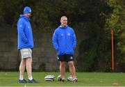 28 October 2020; Leinster head coach Leo Cullen, left, and senior coach Stuart Lancaster during Leinster Rugby squad training at UCD in Dublin. Photo by Matt Browne/Sportsfile