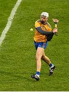 25 October 2020; Conor Cleary of Clare during the Munster GAA Hurling Senior Championship Quarter-Final match between Limerick and Clare at Semple Stadium in Thurles, Tipperary. This game also doubles up as the Allianz Hurling League Division 1 Final as the GAA season was shortened due to the coronavirus pandemic and both teams had qualified for the final. Photo by Eóin Noonan/Sportsfile