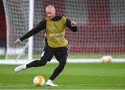 28 October 2020; Chris Shields during a Dundalk Training Session at the Emirates Stadium in London, England. Photo by Ben McShane/Sportsfile