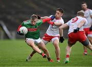 25 October 2020; Ryan O'Donoghue of Mayo in action against Liam Rafferty of Tyrone during the Allianz Football League Division 1 Round 7 match between Mayo and Tyrone at Elverys MacHale Park in Castlebar, Mayo. Photo by Piaras Ó Mídheach/Sportsfile