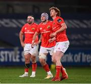 26 October 2020; Ben Healy of Munster, right, during the Guinness PRO14 match between Munster and Cardiff Blues at Thomond Park in Limerick. Photo by Harry Murphy/Sportsfile