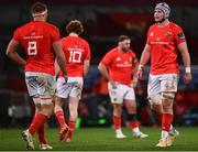 26 October 2020; Fineen Wycherley of Munster, right, during the Guinness PRO14 match between Munster and Cardiff Blues at Thomond Park in Limerick. Photo by Harry Murphy/Sportsfile