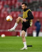 28 October 2020; Stefan Colovic during a Dundalk Training Session at the Emirates Stadium in London, England. Photo by Ben McShane/Sportsfile