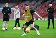 28 October 2020; Sean Murray during a Dundalk Training Session at the Emirates Stadium in London, England. Photo by Ben McShane/Sportsfile
