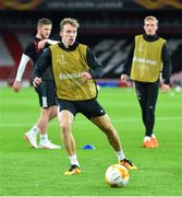 28 October 2020; David McMillan during a Dundalk Training Session at the Emirates Stadium in London, England. Photo by Ben McShane/Sportsfile