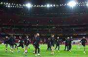 28 October 2020; A general view during a Dundalk Training Session at the Emirates Stadium in London, England. Photo by Ben McShane/Sportsfile