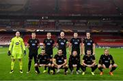 29 October 2020; The Dundalk team line up for a team photo prior to the UEFA Europa League Group B match between Arsenal and Dundalk at the Emirates Stadium in London, England. Photo by Ben McShane/Sportsfile