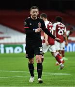 29 October 2020; Sean Murray of Dundalk during the UEFA Europa League Group B match between Arsenal and Dundalk at the Emirates Stadium in London, England. Photo by Ben McShane/Sportsfile