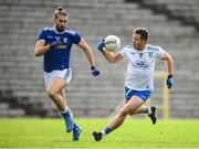 31 October 2020; Dessie Ward of Monaghan and Killian Clarke of Cavan during the Ulster GAA Football Senior Championship Preliminary Round match between Monaghan and Cavan at St Tiernach's Park in Clones, Monaghan. Photo by Stephen McCarthy/Sportsfile