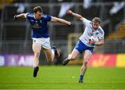 31 October 2020; Karl O'Connell of Monaghan in action against Gearoid McKiernan of Cavan during the Ulster GAA Football Senior Championship Preliminary Round match between Monaghan and Cavan at St Tiernach's Park in Clones, Monaghan. Photo by Stephen McCarthy/Sportsfile
