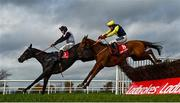 31 October 2020; The Storyteller, with Keith Donoghue up, right, clear the last next to eventual second Chris's Dream, with Robbie Power up, on their way to winning the Ladbrokes Champion Steeplechase at Down Royal Racecourse in Lisburn, Down. Photo by David Fitzgerald/Sportsfile