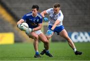 31 October 2020; Killian Brady of Cavan in action against Conor McCarthy of Monaghan during the Ulster GAA Football Senior Championship Preliminary Round match between Monaghan and Cavan at St Tiernach's Park in Clones, Monaghan. Photo by Stephen McCarthy/Sportsfile
