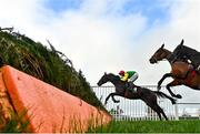 31 October 2020; Sizing Pottsie, with Robbie Power up, jump the second last during the Lough Construction Ltd. steeplechase at Down Royal Racecourse in Lisburn, Down. Photo by David Fitzgerald/Sportsfile
