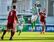 31 October 2020; Ryan Graydon of Bray Wanderers in action against Sam Warde of Galway United during the SSE Airtricity League First Division Play-off Semi-Final match between Bray Wanderers and Galway United at the Carlisle Grounds in Bray, Wicklow. Photo by Eóin Noonan/Sportsfile