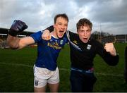 31 October 2020; Gearoid McKiernan, left, and Cormac O'Reilly of Cavan celebrate following the Ulster GAA Football Senior Championship Preliminary Round match between Monaghan and Cavan at St Tiernach's Park in Clones, Monaghan. Photo by Stephen McCarthy/Sportsfile