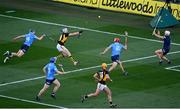 31 October 2020; TJ Reid of Kilkenny shoots to score his side's second goal during the Leinster GAA Hurling Senior Championship Semi-Final match between Dublin and Kilkenny at Croke Park in Dublin. Photo by Ramsey Cardy/Sportsfile