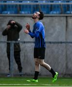 31 October 2020; Dean George of Athlone Town celebrates after scoring his side's third goal during the Extra.ie FAI Cup Quarter-Final match between Athlone Town and Shelbourne at the Athlone Town Stadium in Athlone, Westmeath. Photo by Harry Murphy/Sportsfile