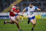 31 October 2020; Jamie Barron of Waterford in action against Christopher Joyce of Cork during the Munster GAA Hurling Senior Championship Semi-Final match between Cork and Waterford at Semple Stadium in Thurles, Tipperary. Photo by Piaras Ó Mídheach/Sportsfile