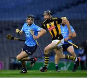31 October 2020; Danny Sutcliffe of Dublin in action against Walter Walsh of Kilkenny during the Leinster GAA Hurling Senior Championship Semi-Final match between Dublin and Kilkenny at Croke Park in Dublin. Photo by Ray McManus/Sportsfile