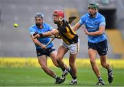 31 October 2020; Cillian Buckley of Kilkenny in action against Riain McBride, left. and Chris Crummey of Dublin during the Leinster GAA Hurling Senior Championship Semi-Final match between Dublin and Kilkenny at Croke Park in Dublin. Photo by Daire Brennan/Sportsfile