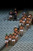 31 October 2020; The Kilkenny team make their way back onto the pitch for the second half of the Leinster GAA Hurling Senior Championship Semi-Final match between Dublin and Kilkenny at Croke Park in Dublin. Photo by Daire Brennan/Sportsfile